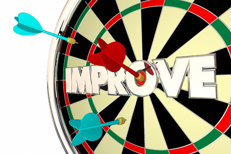 better: Improve Get Better Word Dard Board 3d Illustration Stock Photo