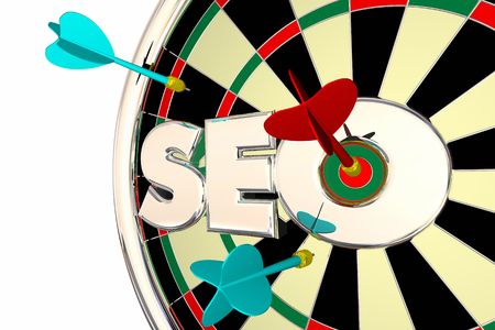 SEO Search Engine Optimization Dart Board 3d Illustration