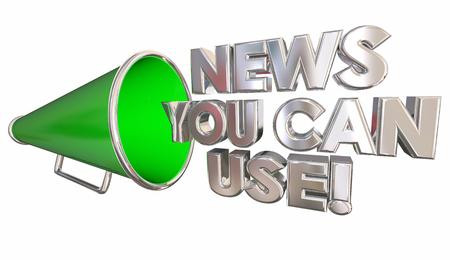 News You Can Use Bullhorn Megaphone 3d Illustration