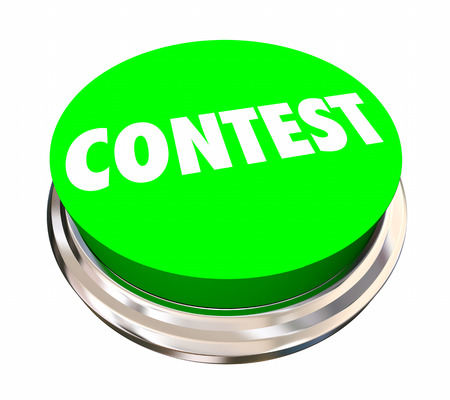 enter button: Contest Game Competition Enter Win Button 3d Illustration Stock Photo