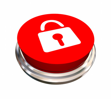 security symbol: Lock Symbol Icon Safety Security Button 3d Illustration
