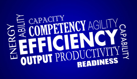readiness: Efficiency Productivty Great Work Process Word Collage Illustration