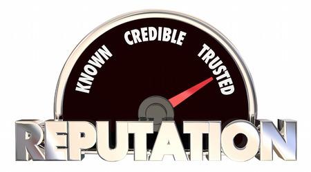 Reputation Trust Respect Credibility Measurement 3d Illustration