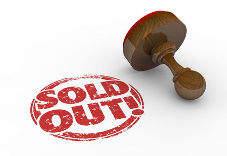 go to store: Sold Out Product Sellout Inventory Gone Stamp 3d Illustration