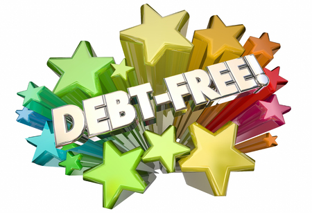 forgiveness: Debt Free Forgiveness Money Owed Stars Words 3d Illustration Stock Photo