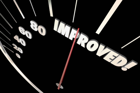 better: Improved Word Better Speedometer Progress 3d Illustration