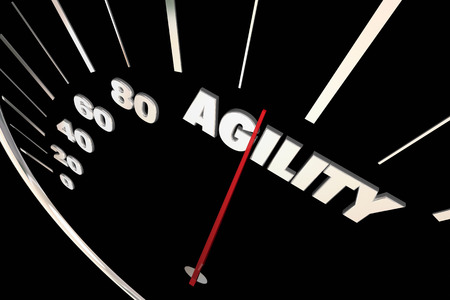 adapting: Agility Adaptive Change Ability Speedometer 3d Illustration