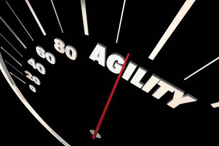 flexibility: Agility Adaptive Change Ability Speedometer 3d Illustration