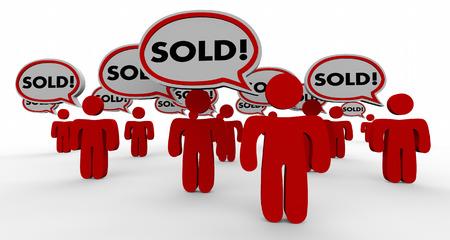 gente comunicandose: La gente se vende la burbuja del discurso cerrado Trato Clientes 3d ilustración