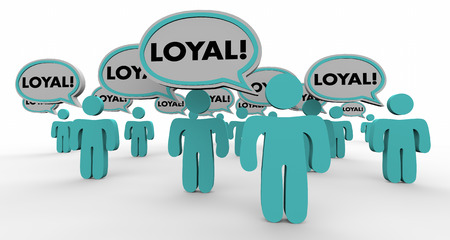 crowd happy people: Loyal Return Customers Audience Speech Bubble People 3d Illustration Stock Photo