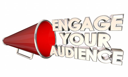 communicate: Engage Your Audience Communicate Bullhorn Megaphone 3d Illustration