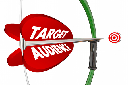 targeted: Target Audience Customers Group Bow Arrow 3d Illustration Stock Photo