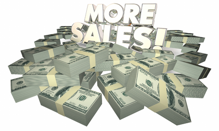 accumulate: More Sales Selling Success Money Words 3d Illustration