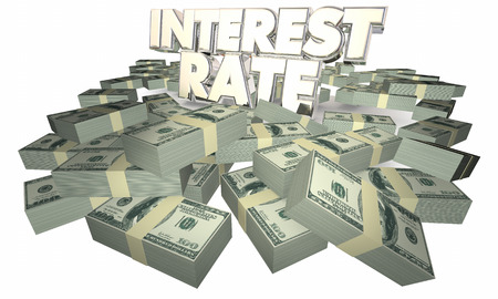 borrow: Interest Rate Borrow Money Earn Savings 3d Illustration