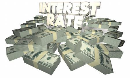 borrowing money: Interest Rate Borrow Money Earn Savings 3d Illustration