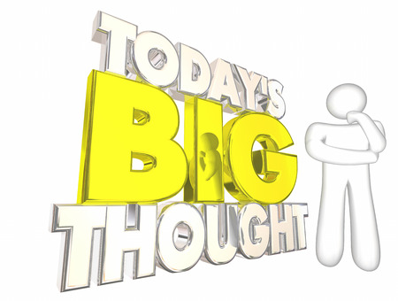 Todays Big Thought Idea Daily Puzzle Thinking Person 3d Illustration Stock Photo