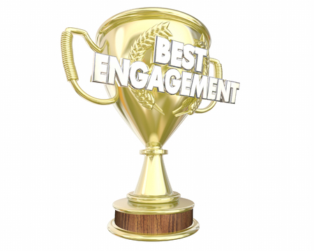 Best Engagement Interaction Join Group Trophy Award 3d Illustration