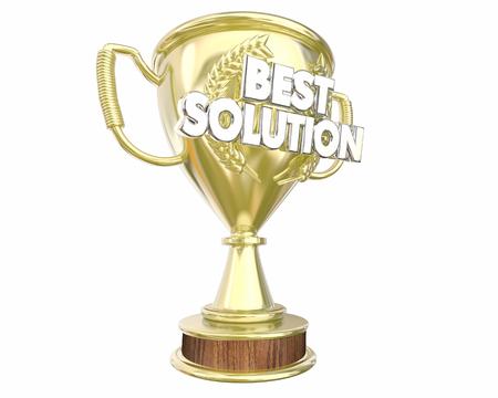 awarded: Best Solution Problem Solved Idea Trophy Award 3d Illustration