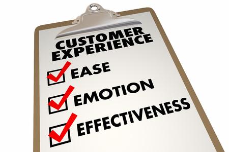 La experiencia del cliente Encuesta de satisfacción Gran ilustración 3d Foto de archivo - 60662523