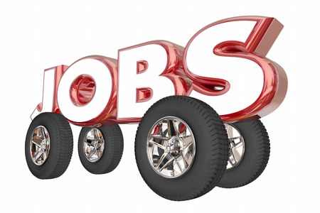 Jobs Automotive Career Engineer Automobile Industry 3d Illustration Фото со стока