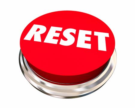 new beginnings: Reset Start Over Fresh Change New Beginning Button 3d Illustration
