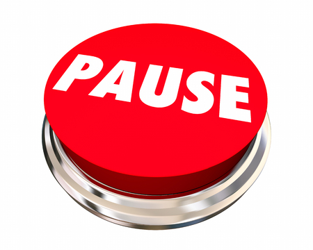 recess: Pause Take Break Rest Recess Round Button 3d Illustration