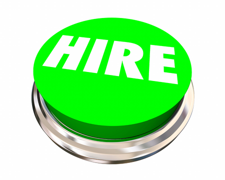 Hire New Employee Job Candidate Opening Button 3d Illustration
