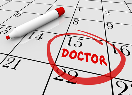 appointments: Doctor Appointment Health Care Check Up Physical Calendar 3d Illustration