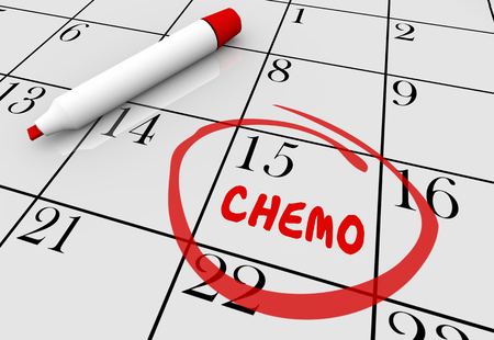 tumors: Chemotherapy Cancer Treatment Appointment Day Date Calendar 3d Illustration