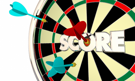 Score Dart Board High Top Player Word 3d Illustration