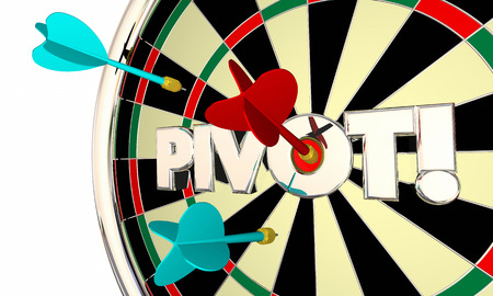 shifting: Pivot Dart Board Change Shift Business Model 3d Illustration