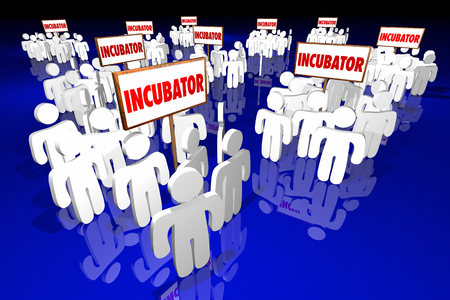 Incubator Business Product Startup Community People Meetings 3d Illustration