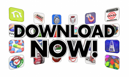 Download Now Apps Mobile Software Programs 3d Illustration