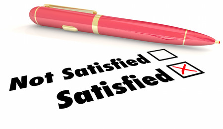 Satisfied Vs Non Satisfaction Check Mark Box Pen 3d Illustration