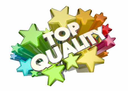 reputable: Top Quality Best Most Reliable Products Stars 3d Illustration