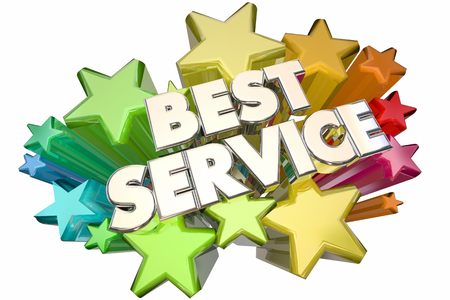 top animated: Best Service Company Customer Satisfaction Stars 3d Illustration