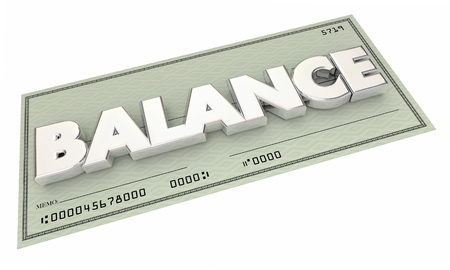 checkbook: Balance Money Check Bank Account Budget 3d Illustration