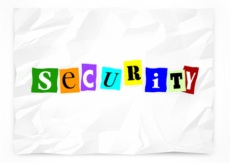 prevention: Security Ransom Note Safety Crime Prevention 3d Illustration