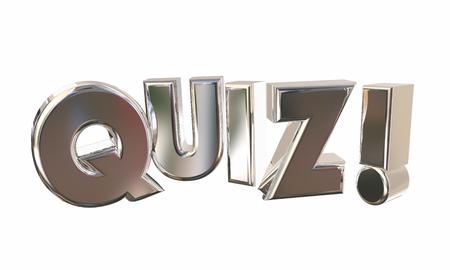 appear: Quiz Test Surprise Contest Questions Game Word 3d Illustration Stock Photo