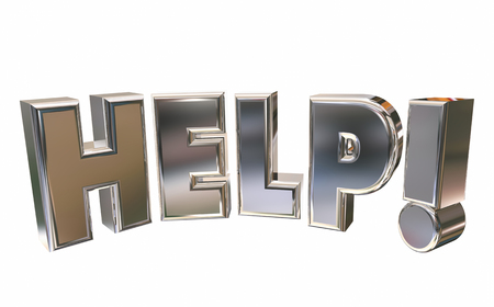 Pleading: Help Assistance Support Emergency Service Word 3d Illustration