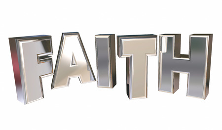 certainty: Faith Religion Belief God Prayer Word 3d Illustration