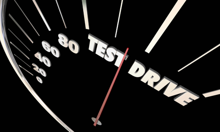 comparing: Test Drive Car Vehicle Evaluation Review Shopping 3d Illustration