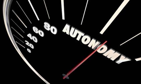 autonomia: Autonomía Alquiler de conducción de coches de los vehículos autónomos 3d ilustración