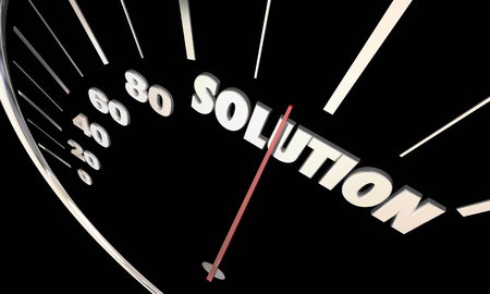 pace: Solution Speedometer Problem Solved Fix Repaired 3d Illustration