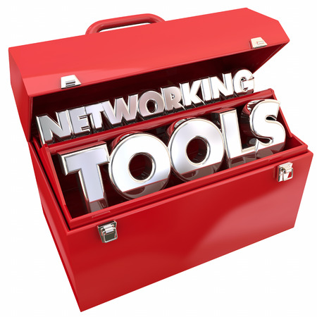 introducing: Networking Tools Connections Relationships Toolbox 3d Illustration