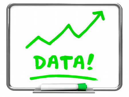 top animated: Data Numbers Information Erase Board Arrow 3d Illustration