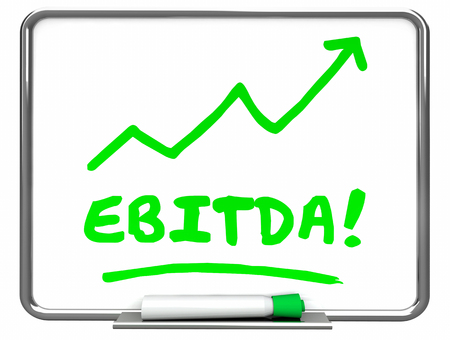 erase: EBITDA Earnings Accounting Profit Revenue Erase Board 3d Illustration Stock Photo