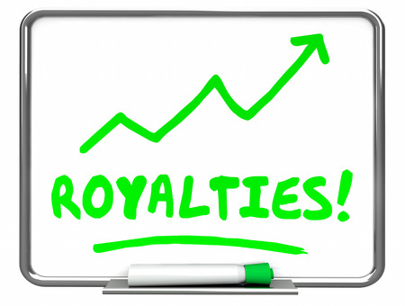 top animated: Royalties Income Commissions Rise Increase Erase Board 3d Illustration