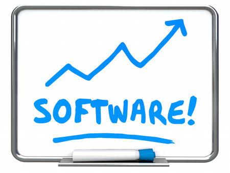top animated: Software Apps Applications Programs Arrow Rising 3d Illustration Stock Photo