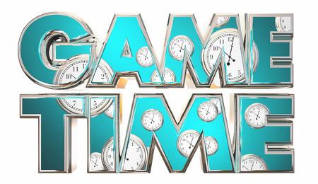 Game Time Sports Competition Début Commence 3d Illustration